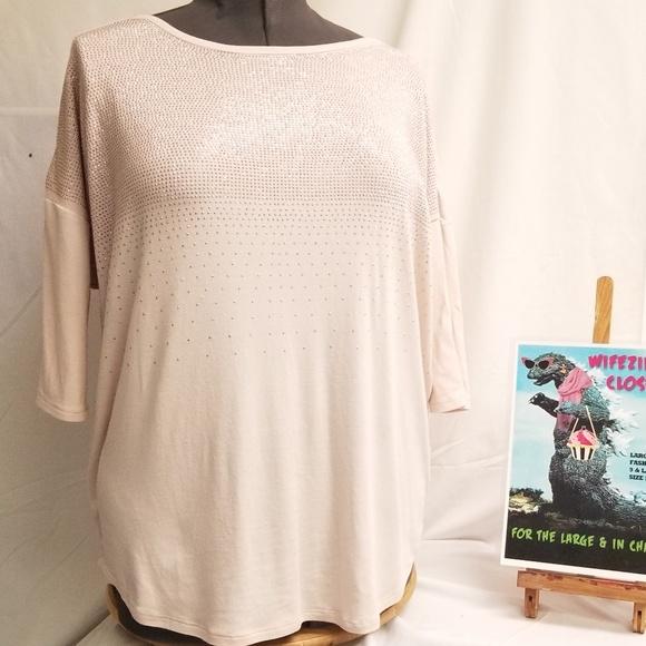 Dress Barn Tops - DressBarn DB Est. 1962  Sequined Pale Pink Top